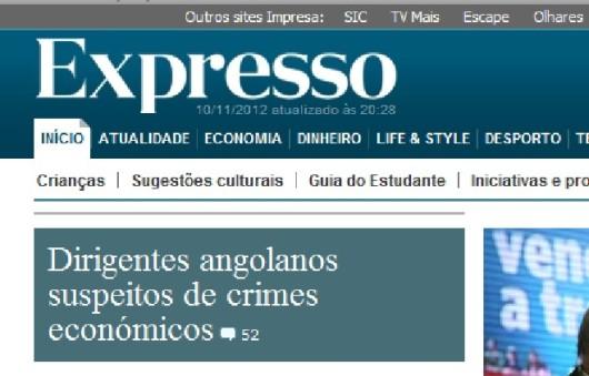 Expresso ataque comucacional  a Angola
